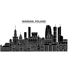 poland warsaw architecture city skyline vector image vector image