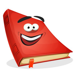Red book character vector