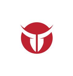 Red bull taurus logo template vector