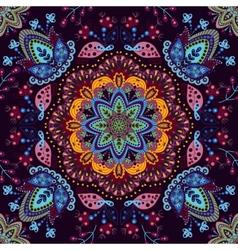 Seamless pattern ornamental wallpaper vector