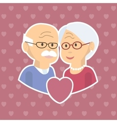 Senior couple in love vector