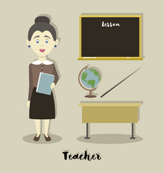 Smiling school teacher vector