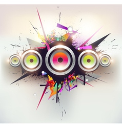 Speakers design vector image vector image