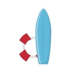 Surf board isolated icon vector