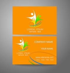 team company logo identity template vector image