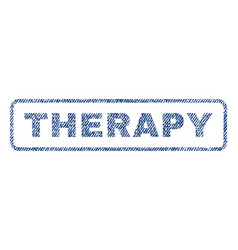 Therapy textile stamp vector