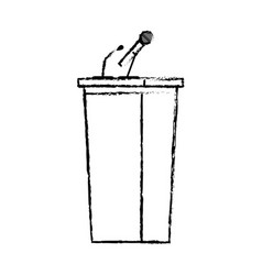 Tribune speak microphone debate empty image vector