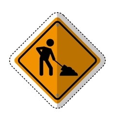 under construction traffic signal information icon vector image
