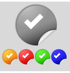 Check mark sign icon  confirm approved symbol set vector