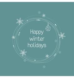 Christmas wreath doodle vector image