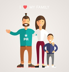 Happy family parents with son father mother son i vector