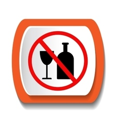 Icon banning alcohol vector