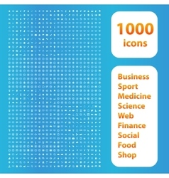 1000 icons white set vector