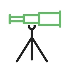 Telescope on stand vector