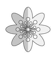 Black line flower icon vector