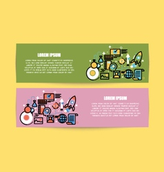 Flat line of design modern for web design vector
