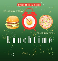 Advertise lunch vector