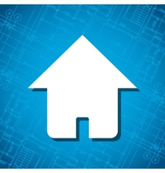 Blueprint home icon vector image