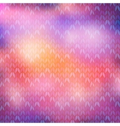 Bokeh winter knitted background vector image vector image