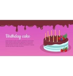 Bon Appetit Festive Cake Web Banner Chocolate vector image