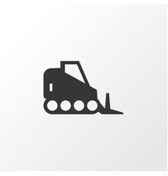 Bulldozer icon symbol premium quality isolated vector