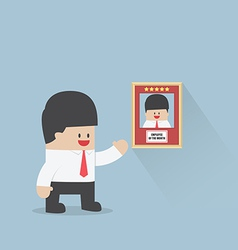 Employee of the month award Business concept vector image