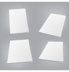 Empty white books vector image vector image