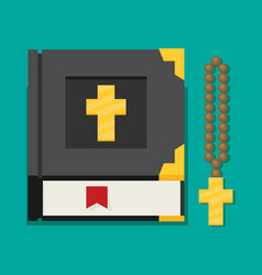 Flat of bible vector