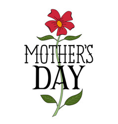 floral happy mothers day congratulatory template vector image