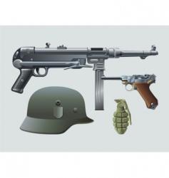 German machine gun vector image vector image