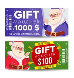gift voucher horizontal coupon merry vector image vector image