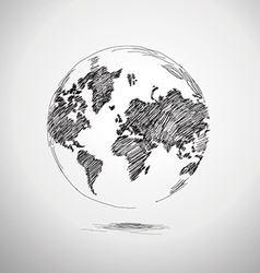 Hand painted earth vector