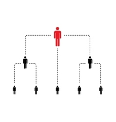 Hierarchy of company scheme with simple person vector