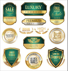 luxury retro badge and labels collection 10 vector image vector image