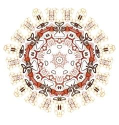 Mandala vintage oriental pattern vector