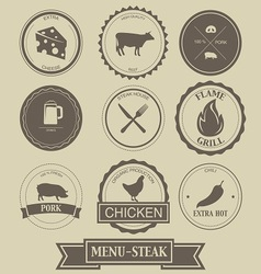 Menu Steak Label Design vector image vector image