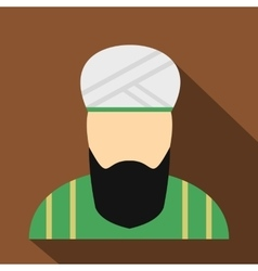 Muslim man flat icon vector