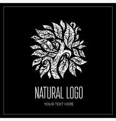 Natiral logo 01 grunge vector