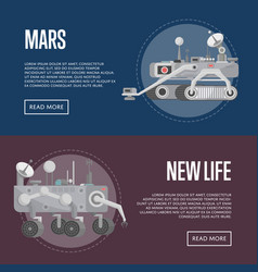 New life concepts with mars rovers vector