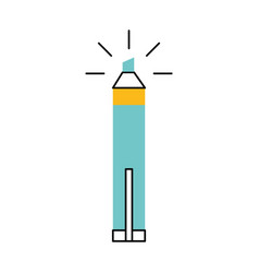 Permanent marker isolated icon vector