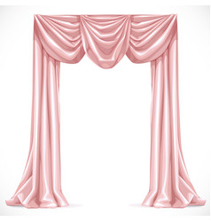 Pink curtain isolated on a white background 1 vector image vector image