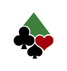 Poker casino logo 380x400 vector