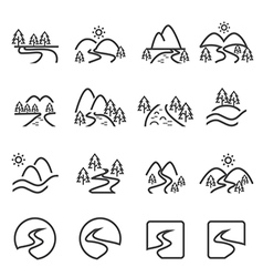 River icon set eps10 vector