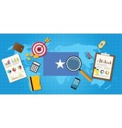 Somalia africa economy economic condition country vector