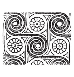 Spiral all-over pattern is a discernible vector