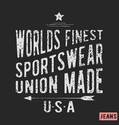 Sportswear vintage stamp vector