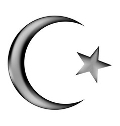 Star and crescent icon sign vector