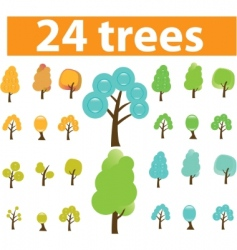 trees cute signs vector vector image