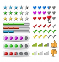 vector set rating icon vector image vector image