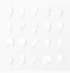 White paper or bone pointers set vector